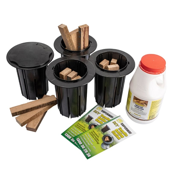 Timber termite baiting system